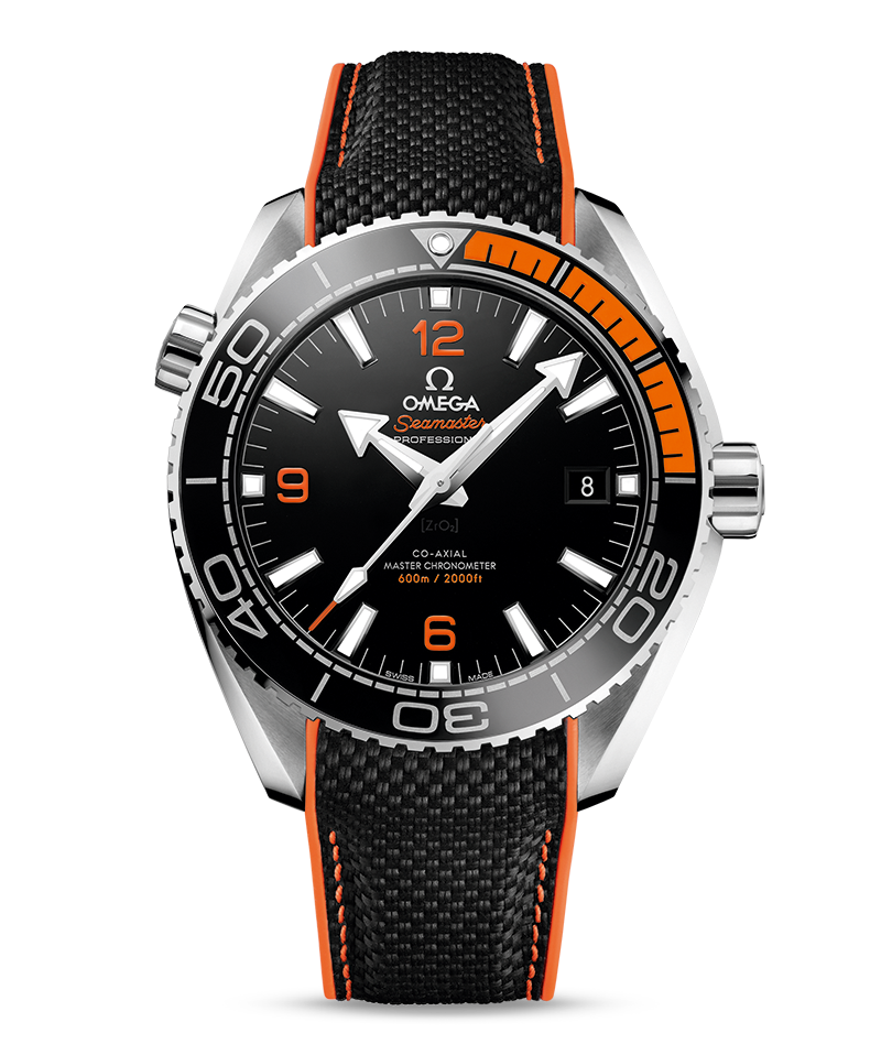 Omega black and orange Master Chronometer Seamaster