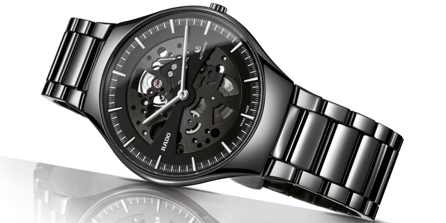 rado true thinline skeleton watch