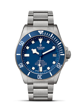 blue, tudor, dive, watch, titanium