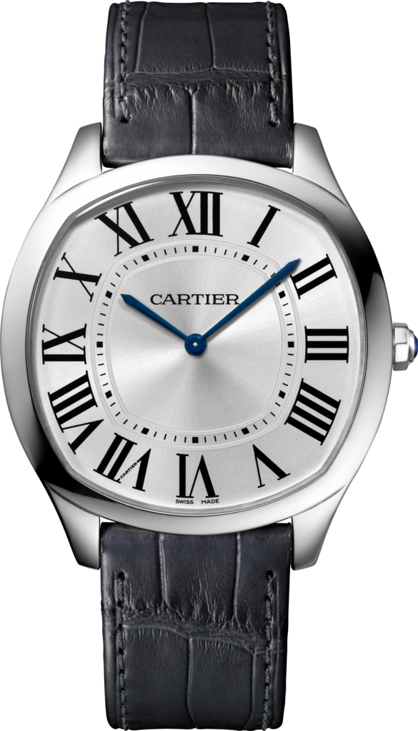 driving watch cartier white gold